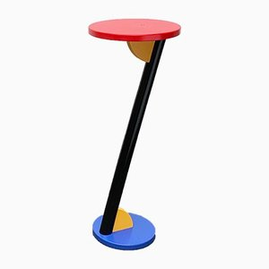 Postmodern Wooden Flower Stand or Side Table