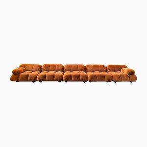 5-Piece Modular Camaleonda Sofa in Brown Velvet by Mario Bellini for C&B Italia, 1970s