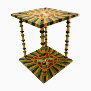 Handmade and Painted Bobbin Style Side Table, France