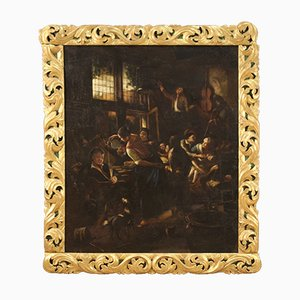 Pintura flamenca de escena interior, siglo XVIII