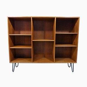 Teak Bookcase with Hairpin Legs by Børge Mogensen for Søborg Møbler, Denmark, 1960s