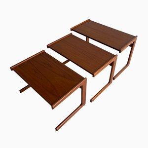 Vintage Danish Side Tables, 1960s, Set of 3