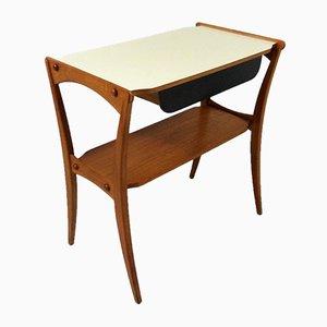 Teak Beistell- oder Couchtisch mit Schublade, 1950er