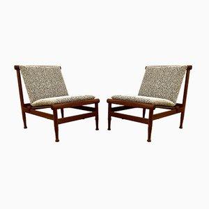 Teak Japan Chairs by K. Larsen Lyngfeldt for Søborg Møbelfabrik, Denmark, 1950s
