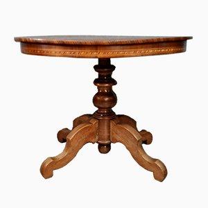 Napoleon III Guéridon Tisch in Edelholz Intarsie, Brienz, Italienische Schweiz