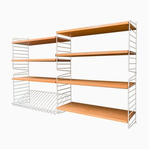 String Shelving System with Book Compartment in Ash by Kajsa & Nils Nisse Strinning, 1960s