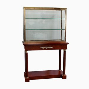 Console with Showcase Cabinet, Early 1900s