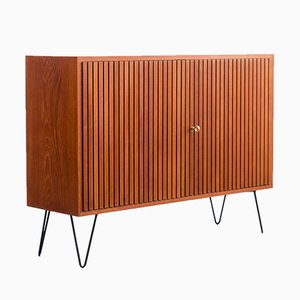 Dresser in Teak with Corrugated Fronts, 1960s