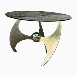 Height-Adjustable Propeller Table by Luciano Campanini for Cama, Italy, 1970s