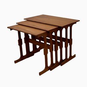 Tables Gigognes en Teck de CFC Silkeborg, Danemark, 1960s, Set de 3