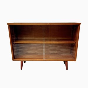 Vintage Bookcase Sideboard with Glass Doors