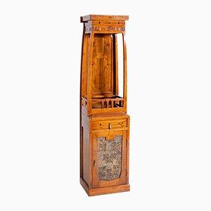 Mobiletto Art Nouveau antico in legno dipinto, Francia