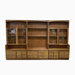 Large 3-Piece English Bookcase in Teak, 1980s