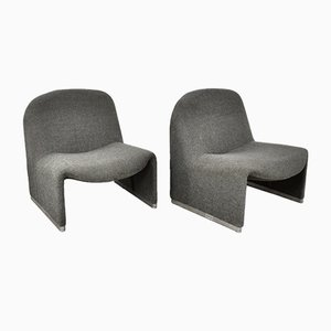 Vintage Alky Lounge Chairs by Giancarlo Piretti for Castelli / Anonima Castelli, 1970s, Set of 2