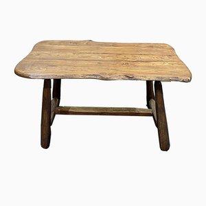 Bauerntisch aus Ulmenholz, 1950er