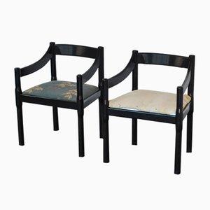 Carimate Stühle von Vico Magistretti für Cassina, 1970er, 2er Set
