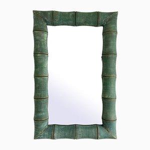Italian Bamboo Style Mirror, 1980s