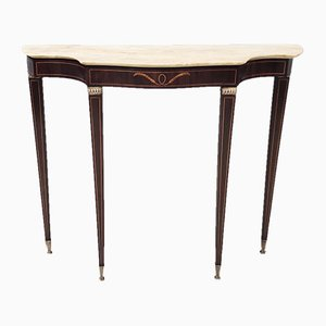 Mid-Century Console Table with a Portuguese Pink Marble Top by Paolo Buffa, Italy