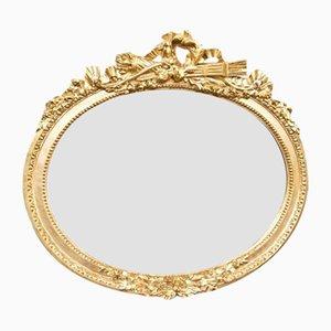 Klassizistischer Spiegel mit Goldrahmen, 1880