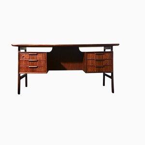 Mid-Century Danish Rosewood Model 75 Desk from Omann Jun