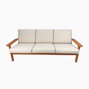 Canapé 3 Places en Teck par Juul Kristensen pour Glostrup, 1970s