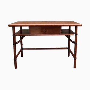 Bamboo Desk with Right-Hand Shelf on Slide from McGuire
