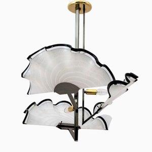 Fächerförmiger Kronleuchter aus Muranoglas, 1980er