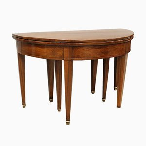 Extendable Directoire Console Table in Walnut, 19th Century