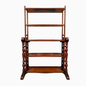 Mahogany Store Shelf with Transformation Mechanism