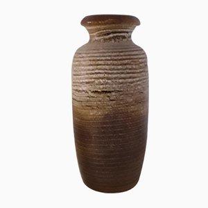 Vase de Sol Fat Lava 291-45 Vintage en Céramique Marron-Beige de Scheurich, 1970s