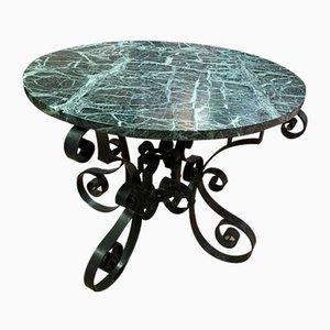 Schmiedeeisen Tisch mit Marmorplatte