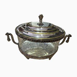 Silver and Crystal Metal Pot