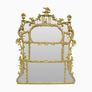 Chinesischer Chippendale Revival Overmantel Spiegel, 1930er