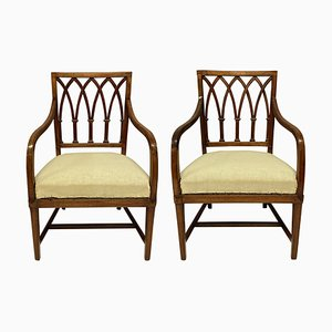 George III Gothic Style Armchairs, Set of 2