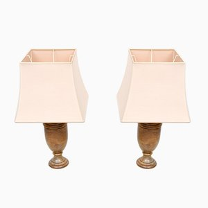 Neoklassizistische Alabaster Tischlampen, Italien, 2er Set