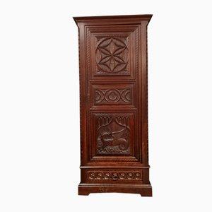 Renaissance Style Bonnetière Cabinet in Solid Oak