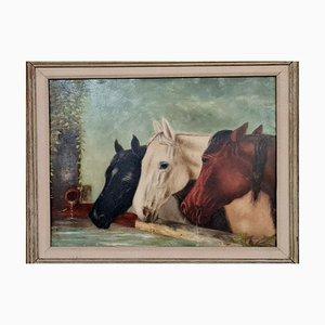 Oil on Panel by F Stevens, 1882