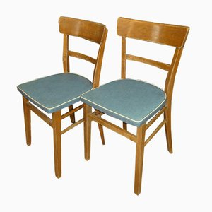Light Blue Kitchen Chairs, 1950s, Set of 6