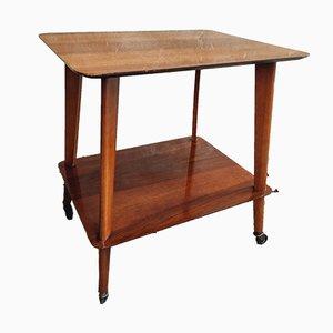 Carrello o tavolino in teak, anni '50