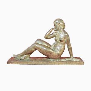 Estatua antigua de bronce, siglo XX