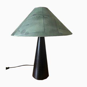 Black Wooden Lamp, 1980s