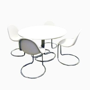 Maya Dining Table and Chairs by Giotto Stoppino for Bernini, 1960s, Set of 5
