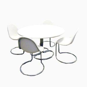 Maya Esstisch und Stühle von Giotto Stoppino für Bernini, 1960er, 5er Set