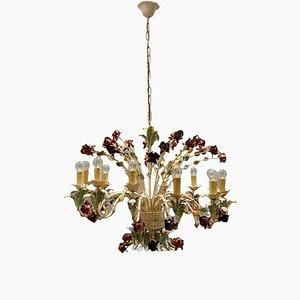 Großer italienischer Vintage Blumen Kronleuchter mit 12 Leuchten