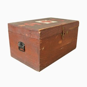 First World War Wooden Chest with Red Cross
