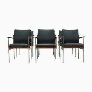 Esszimmerstühle von C. Denekamp für Thereca, 1970er, 6er Set