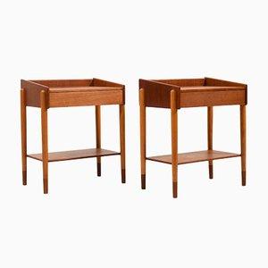 Tables de Chevet par Børge Mogensen pour Søborg Møbelfabrik, Danemark, 1950s, Set de 2
