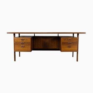 Model 60 Teak Executive Desk by Kai Kristiansen for Feldballes Møbelfabrik, 1960s