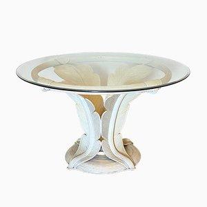Lackierter Tisch aus Bambus, 1970er