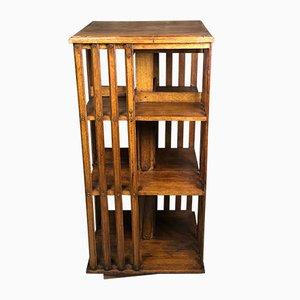 Oak Rotating Library Shelves, 1940s